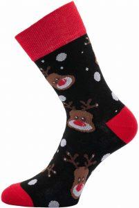 Dámské vánoční ponožky Sobi černé 37-41, K Sporting