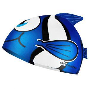 Dětská plavecká čepice RYBKA modrá, K Sporting