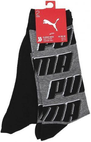 Ponožky Puma Sock All Over Logo 2P Black, K Sporting