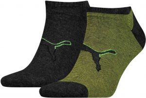 Ponožky Puma Sneaker Big Cat 2P Black/Green, K Sporting