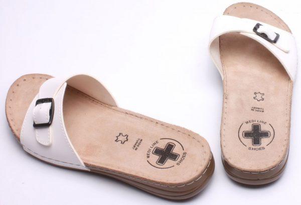 Dámské pantofle Medi Line S402.098 white, K Sporting