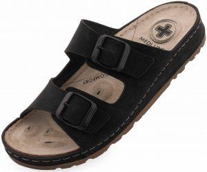 Dámské pantofle Medi Line S182.002 black, K Sporting