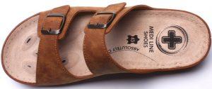 Pánské pantofle Medi Line S182.002 camel, K Sporting