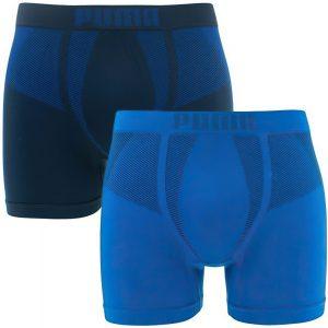 Pánské boxerky Puma Seamless Active Boxer 2-Pack Blue, K Sporting