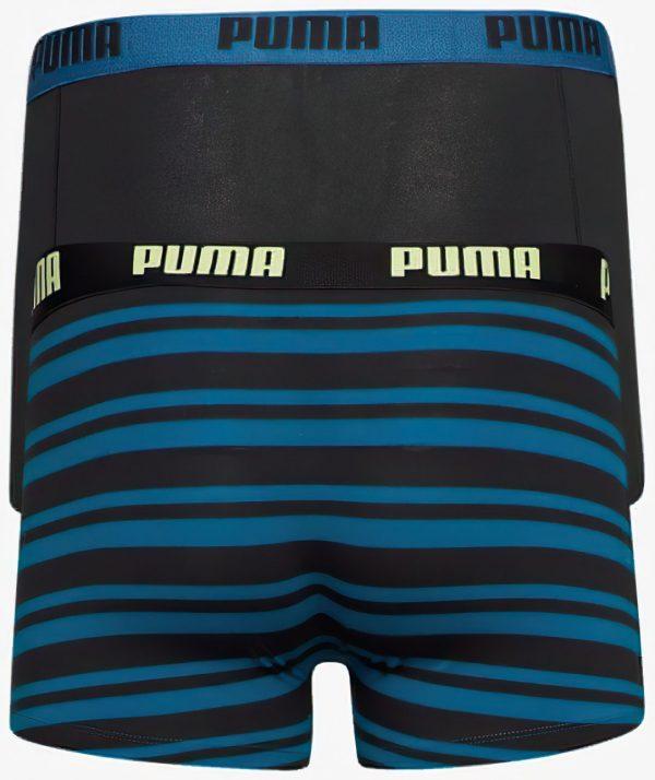 Pánské boxerky Puma Heritage Stripe Boxer 2-Pack Petrol Blue, K Sporting