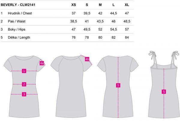 Dámské sportovní šaty Loap BEVERLY, K Sporting