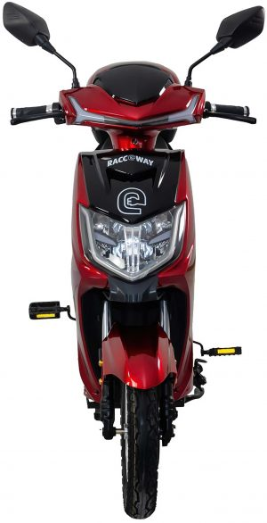 Elektroskútr RACCEWAY E-FICHTL – červený-lesklý s baterií 12Ah, K Sporting
