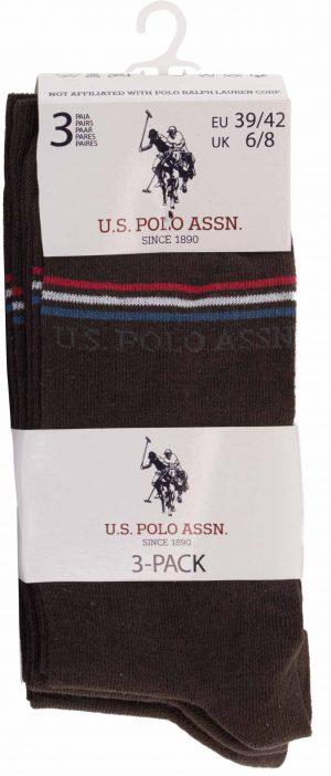 115 42970 hnd 3 300x702 - Ponožky U.S. Polo Assn. 3-pack braun