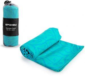 k926049 1 300x270 - Rychleschnoucí sportovní ručník Spokey MANDALA, tyrkysový, 80x160cm